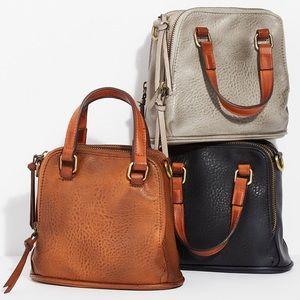 New Free People Charlotte Brown Top Handle Bag